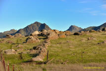 Huge boulders in stone line in the Sutter Buttes